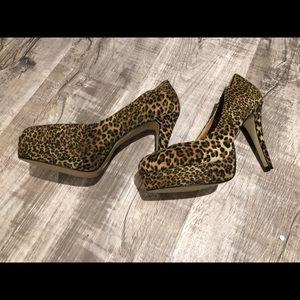 ASOS brand new platform animal print heels